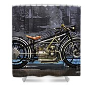 Bmw Vintage Motorcycle Shower Curtain
