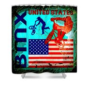 Bmx United States Shower Curtain