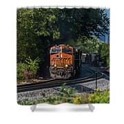Bnsf Coming Around The Curve Shower Curtain