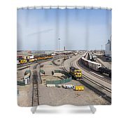 Bnsf Northtown Yard 4 Shower Curtain