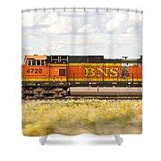 Bnsf Railway Engine Shower Curtain