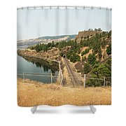 Bnsf Tunnel Shower Curtain