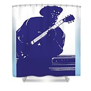 Bo Diddly Shower Curtain