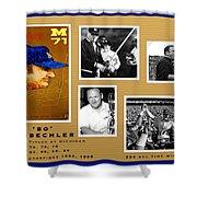 Bo Schembechler Legend Five Panel Shower Curtain