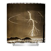 Bo Trek Lightning Art Shower Curtain