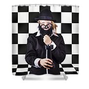 Board Member With Tactical Strategy Game Plan Shower Curtain