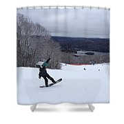 Board On Snow Shower Curtain