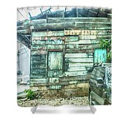 Boarded Up Shower Curtain