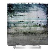 Boardwalk Blues 2- Art By Linda Woods Shower Curtain