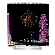 Boardwalk Fieworks At The Jersey Shore Shower Curtain