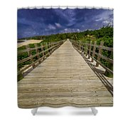 Boardwalk In Color Shower Curtain