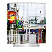 Boardwalk Ride Shower Curtain