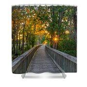 Boardwalk Sunset Shower Curtain