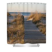 Boardwalk To The Beach Shower Curtain