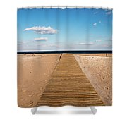 Boardwalk To The Ocean Shower Curtain