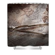 Boat - Sailor - We Are Ready To Sail  Shower Curtain