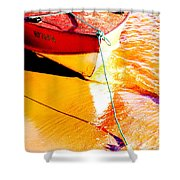 Boat Abstract Shower Curtain