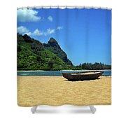 Boat And Bali Hai Shower Curtain