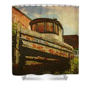 Boat At Apalachicola Shower Curtain