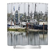 Boat Basin Color Shower Curtain