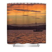 Boat By Holywood Shower Curtain