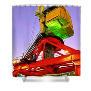 Boat Crane Shower Curtain