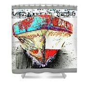 Boat Dalia, Puerta Vallarta, Mexico Shower Curtain
