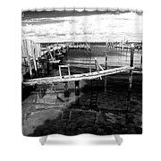 Boat Dock Shower Curtain