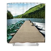 Boat Fun At Silver Lake Shower Curtain