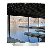 Boat House At Sweet Briar Shower Curtain