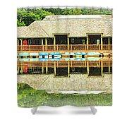 Boat House At Verona Park  Shower Curtain