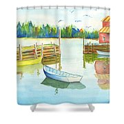 Boat House Shower Curtain