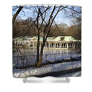 Boat House Central Park Ny Shower Curtain