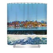 Boat House Row From Fairmount Dam Shower Curtain