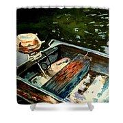 Boat In Fog 2 Shower Curtain