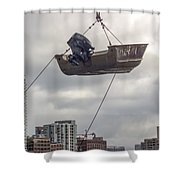 Boat In The Air Shower Curtain