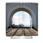 Boat In The Arch Shower Curtain