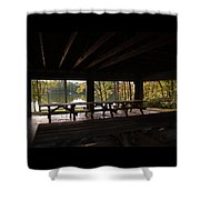 Boat In The Distance Shower Curtain