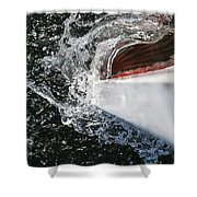 Boat In Water Shower Curtain