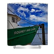 Boat Love In Apalachicola Shower Curtain