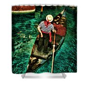 Boat Of Venice Shower Curtain
