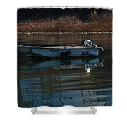 Boat On A Calm Day Shower Curtain