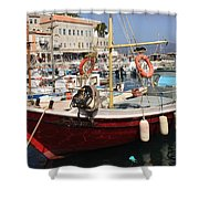 Boat On Hydra Shower Curtain