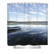 Boat On Knysna Lagoon Shower Curtain