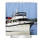 Boat On Pellicer Creek Shower Curtain