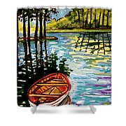 Boat On The Bayou Shower Curtain