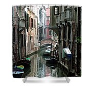 Boat On The Wall Shower Curtain