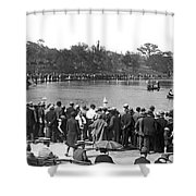 Boat Races In Central Park Shower Curtain