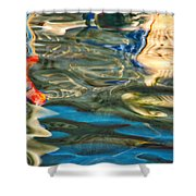 Boat Reflections - Hvar Croatia Shower Curtain