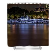 Boat Restaurant  Shower Curtain